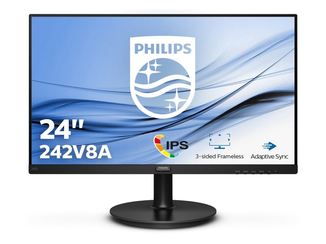 "Ecran 24"" Philips 243V8A (1080p, dalle IPS, 75 Hz) à 99,99 euros"