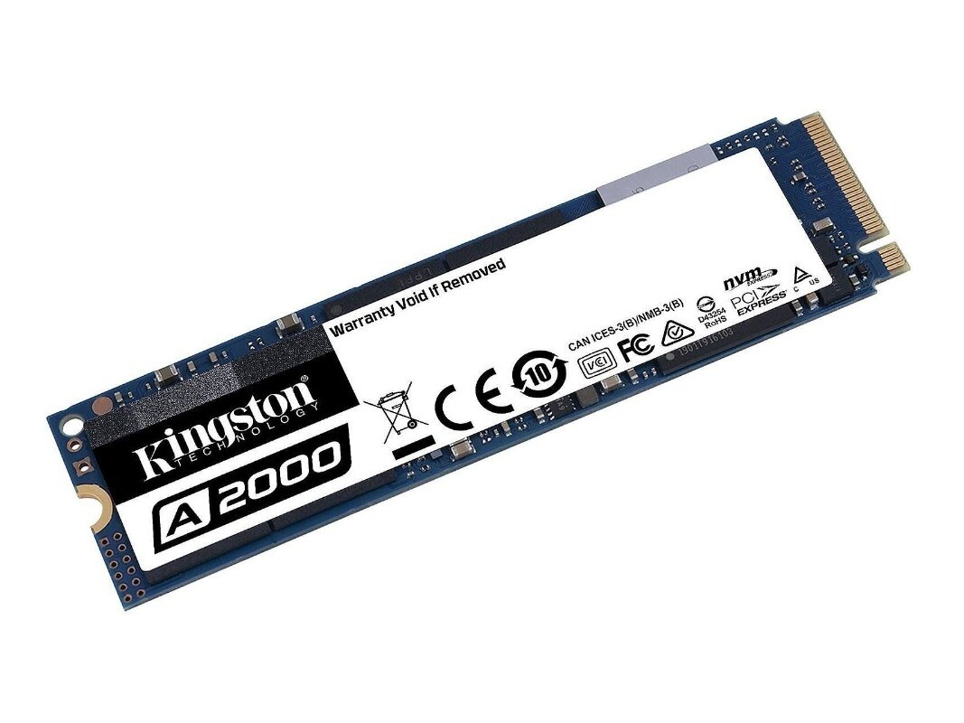 SSD Kingston A2000 de 500 Go (NVMe, 2,2 Go/s) : 60,99 €