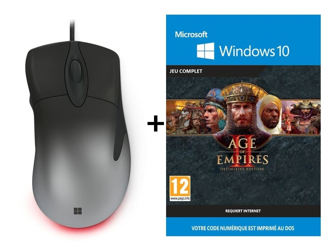 Souris Microsoft Intellimouse Pro et le jeu Age of Empires 2 Definitive Edition à 39,99 euros