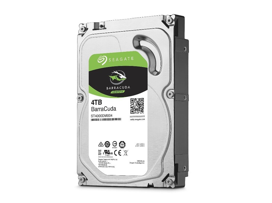 Disque dur Seagate BarraCuda de 4 To (5 400 tpm) : 88,99 €