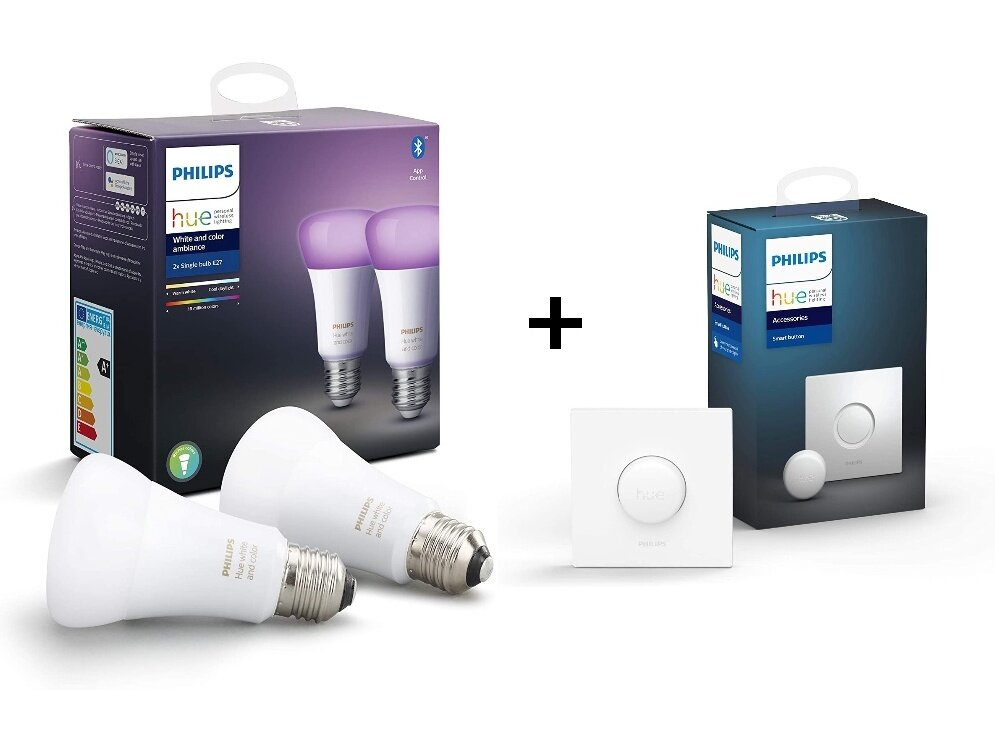 2 ampoules Philips Hue White and Color et un Smart Button à 69,99 euros