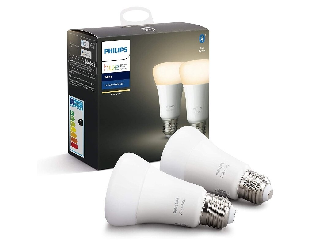 Lot de 2 ampoules E27 White Philips Hue à 24,99 euros