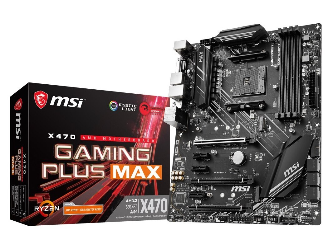 Carte mère MSI X470 Gaming Plus Max (AMD AM4) à 99,90 euros