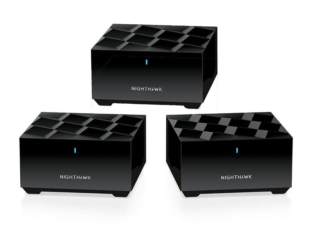 Pack Wi-Fi 6 Netgear Nighthawk Mesh WiFi 6 System MK63 (EasyMesh, 3 modules, 1,8 Gb/s) à 244,99 €