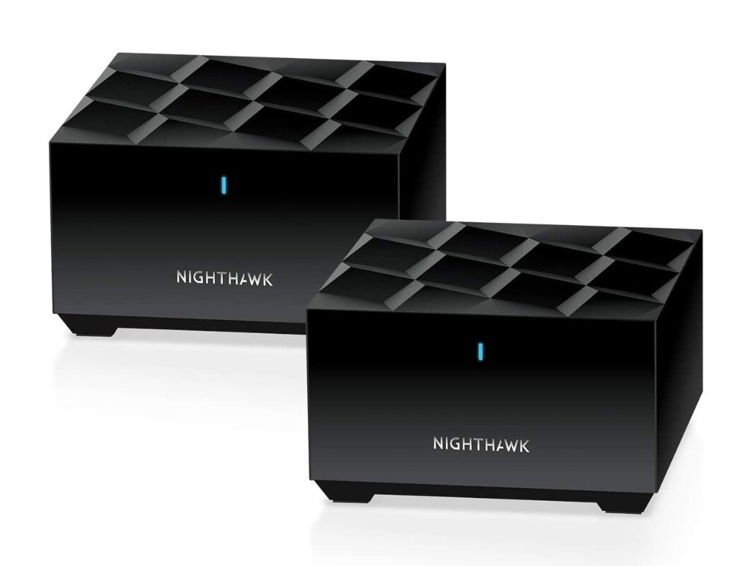 Pack Wi-Fi 6 Netgear Nighthawk Mesh WiFi 6 System MK62 (EasyMesh, 2 modules, 1,8 Gb/s) à 164,14 €