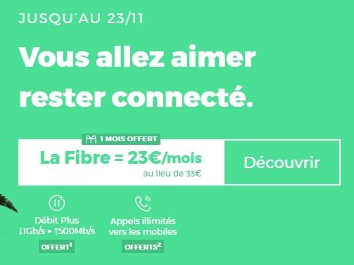 [Prolongation] Box RED by SFR Fibre (1 Gb/s, 1er mois offert) : 23 € par mois, sans limite de durée