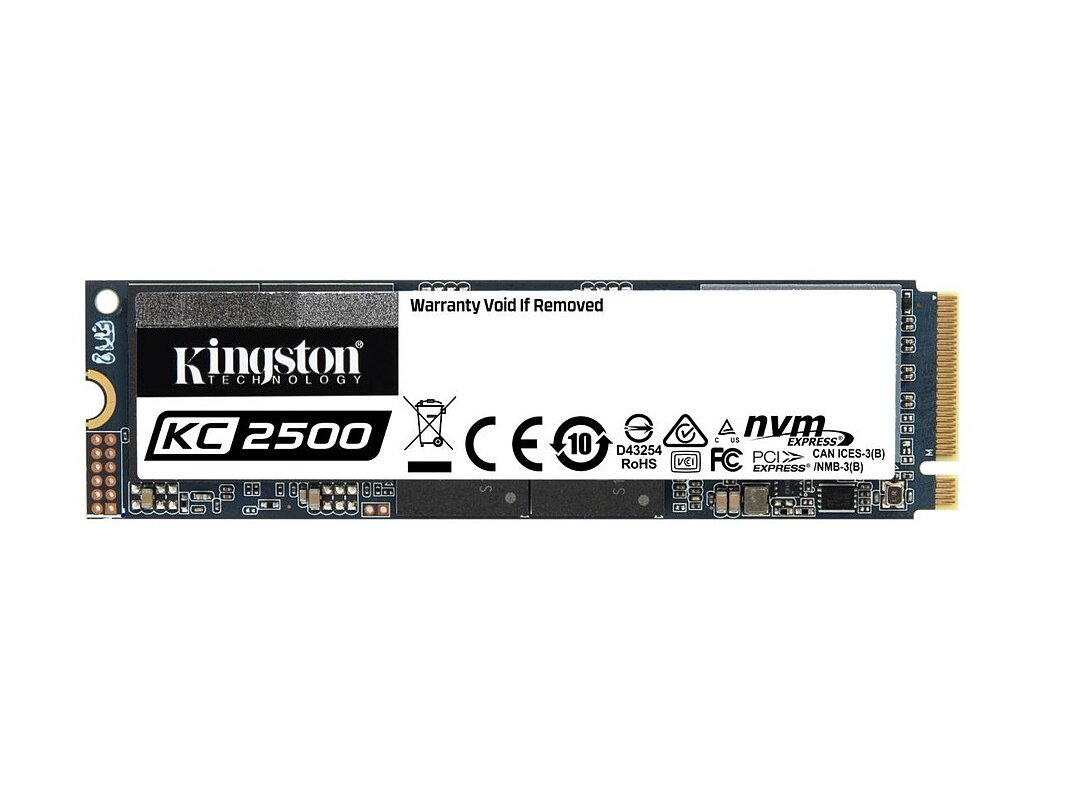 SSD Kingston KC2500 M.2 de 1To (NVMe, 3,5 Go/s) pour 137,99 €