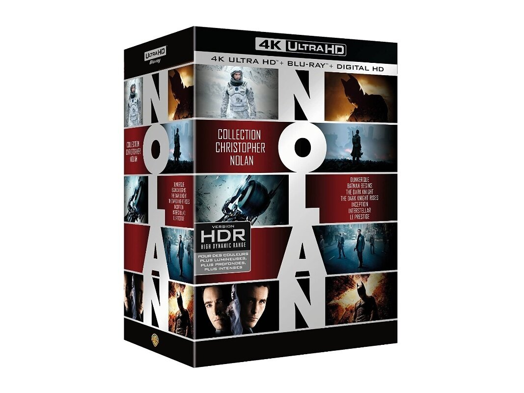 Coffret 7 films Christopher Nolan en Ultra HD Blu-ray à 65 €