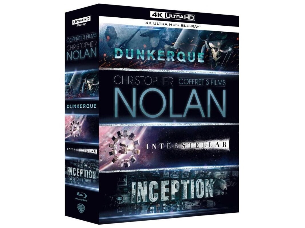 Coffret 3 films Christopher Nolan en Ultra HD Blu-ray à 30 €