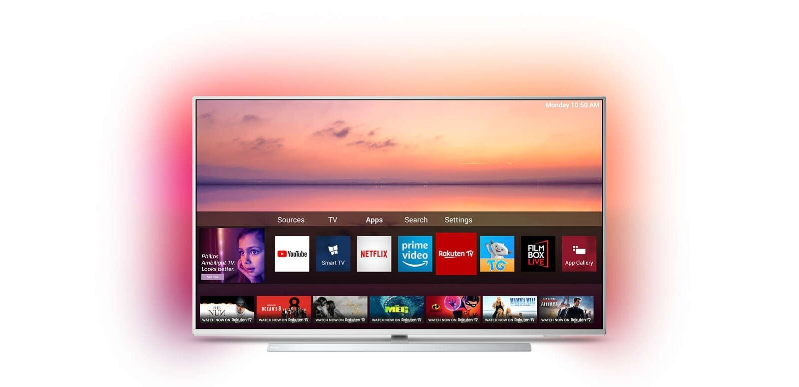 "Smart TV OLED de 65"" Philips 65OLED754 (UHD 4K) à 1 599 euros"