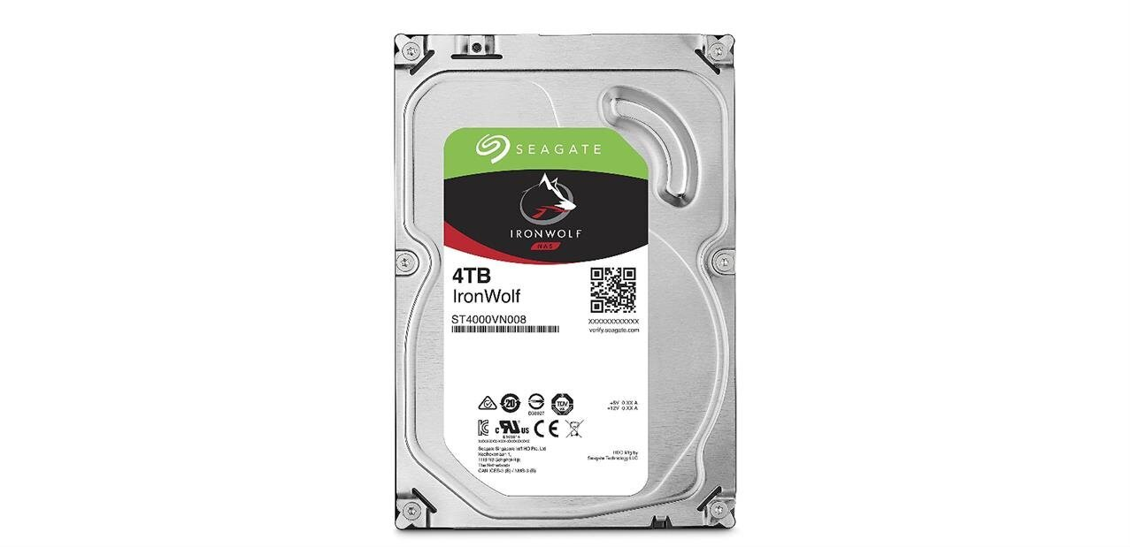Disque dur Seagate IronWolf de 4 To à 112,49 euros